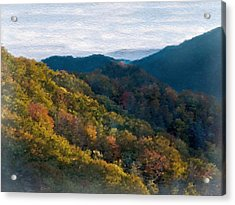 Another Fall Smoky Mountain Scenic Acrylic Print by Philip White