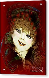 Another Pretty Face Acrylic Print by Doris Wood