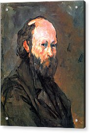Another Self Portrait By Cezanne Acrylic Print by John Peter