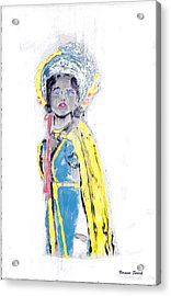 Another Time Monoprint Acrylic Print
