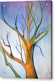 Another Tree Watercolor Acrylic Print