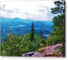 Another View From The Top Acrylic Print by Judy Via-Wolff