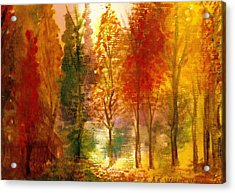 Another View Of Autumn Hideaway Acrylic Print by Anne-Elizabeth Whiteway