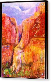 Another View Of Kokopelli Acrylic Print by Anne-Elizabeth Whiteway