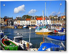 Anstruther Harbour Acrylic Print by Craig B