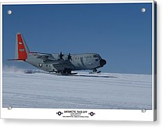 Antarctic Take-off Acrylic Print by David Barringhaus