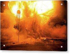 Antares Rocket Explosion Acrylic Print
