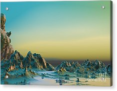 Acrylic Print featuring the digital art Ante Somnum - Surrealism by Sipo Liimatainen