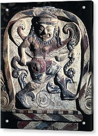 Antefix With A Masked Dancer. 4th C Acrylic Print by Everett