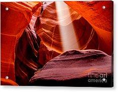 Antelope Canyon Beam Acrylic Print