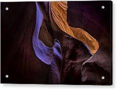 Antelope Canyon Colors Acrylic Print