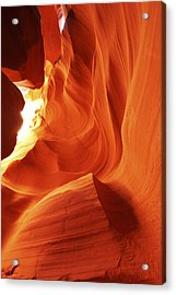 Acrylic Print featuring the photograph Antelope Canyon In Winter Light 1 by Alan Vance Ley