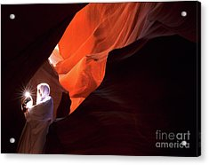 Antelope Canyon Keeper Of The Light Acrylic Print by Bob Christopher