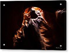 Antelope Canyon Light Acrylic Print by Bill Cantey