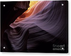 Antelope Canyon Movement In Stone Acrylic Print by Bob Christopher