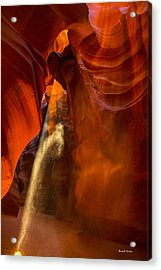 Antelope Canyon - Sand In The Light Acrylic Print by Angela A Stanton