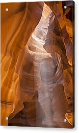 Antelope Canyon Shapes And Light Acrylic Print
