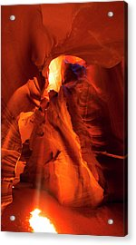 Acrylic Print featuring the photograph Antelope Canyon by Tom Kelly