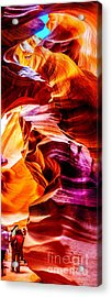 Antelope Canyon Tour Acrylic Print