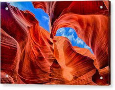Antelope Canyon Walls Acrylic Print by Greg Norrell