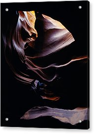 Antelope Cyn Cave Close-up Acrylic Print by Erik Poppke