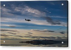 Acrylic Print featuring the photograph Antelope Island - Lone Airplane by Ely Arsha