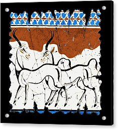 Antelope Of Akrotiri Acrylic Print by Steve Bogdanoff