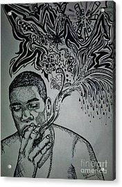 Anthony Acrylic Print by Kayla Giampaolo