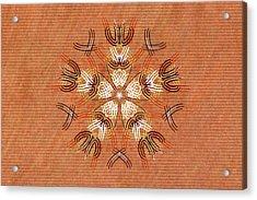 Anthropomorphic Mandala Acrylic Print by Hakon Soreide