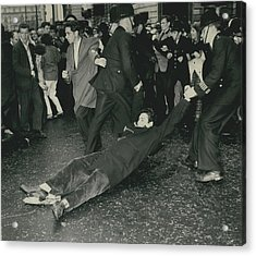 Anti - Bomb Demonstration In Trafalgar Square Goes Acrylic Print by Retro Images Archive