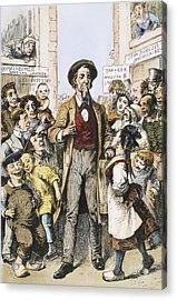 Anti-immigrants Cartoon Acrylic Print by Granger