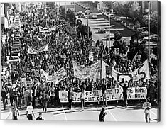 Anti Vietnam War Demonstration Acrylic Print by Underwood Archives Adler