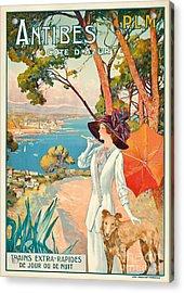 Antibes Vintage Travel Poster Acrylic Print by David Dellepiane