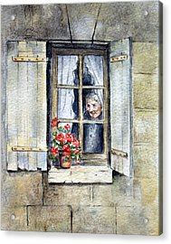 Acrylic Print featuring the painting Anticipation by Rosemary Colyer