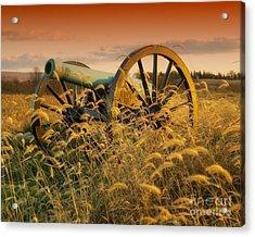 Acrylic Print featuring the photograph Antietam Maryland Cannon Battlefield Landscape by Paul Fearn