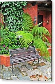 Antigua Bench Acrylic Print
