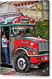 Antigua Bus Stop Acrylic Print