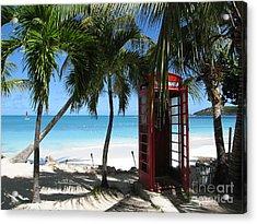 Antigua - Phone Booth Acrylic Print