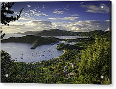 Antigua Sunset From Shirley Heights Acrylic Print