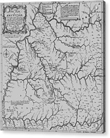 Antique 1784 Kentucky Map Acrylic Print by Dan Sproul