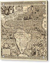 Antique America Map Acrylic Print by Gary Grayson