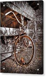 Antique Bicycle Acrylic Print by Debra and Dave Vanderlaan