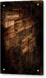 Antique Books On Dusty Book Shelves Acrylic Print by Loriental Photography