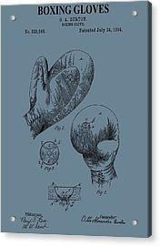 Antique Boxing Gloves Patent Acrylic Print by Dan Sproul