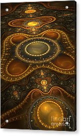 Antique Carpet Acrylic Print by Jaclyn Hughes Fine Art