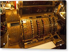 Acrylic Print featuring the photograph Antique Cash Register by Jerry Cowart