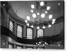 Antique Chandelier In Old Courtroom Acrylic Print