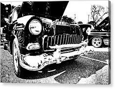 Antique Chevy Car At Car Show Acrylic Print