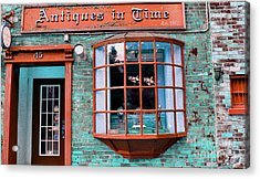 Antique Clock Shop Acrylic Print by Nina Silver