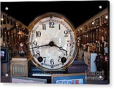 Acrylic Print featuring the photograph Antique Clock Store by Gunter Nezhoda